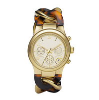 2015 New Brand Quartz Watch Luxurious Women Men wristwatch Runway Twist Gold-Tone Stainless Steel Tortoise Acetate Watch