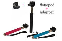 Gopro Tripod Accessories Aluminium Handheld Monopod Flexible Camera Tripod w/ Mount Adapter For SJ4000 Gopro Hero Camera 2 3 3+