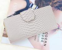 2014 female wallet genuine leather women purse long design fashion colour painting flower women's wallets change purse