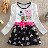 baby girl long sleeve dress Peppa Pig Nova brand children cartoon kids clothes 18-24 months