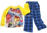 Retail 2-10year Boys LEGO MOVIE/ Minions/ Toy Story/ Peppa/ Frozen Pajamas, Children Sleeping Suit, 2PCS Pyjama Kids Sleepwear
