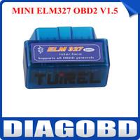 Newest MINI ELM327 Bluetooth OBD2 V1.5 MINI ELM327 Bluetooth Code Scanner with Free Shipping