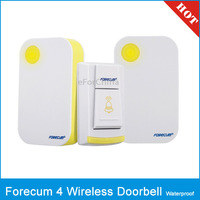 Forecum 4F Waterproof Wireless Smart Doorbell with 2 Receivers, Waterproof Level: IPX3