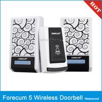 Forecum 5F Waterproof Wireless Smart Doorbell with 2 Receivers, Waterproof Level: IPX3