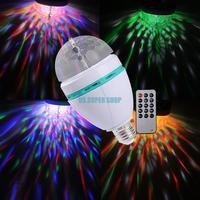 EB3631 E27 RGB LED Rotating Stage Crystal LED Light Bulb Lamp For Disco Party DJ Club Luzes Para Festa