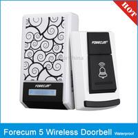 Forecum 5 Waterproof Wireless Smart Doorbell with Single Receiver, Waterproof Level: IPX3