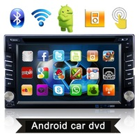 "Android 6.2"" 2DIN Navigation Car Stereo Bluetooth GPS/DVD/USB/SD/Radio/Video Player Map for most cars"
