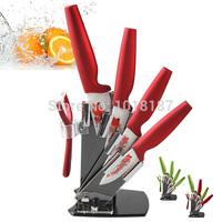 Home Kitchen Ceramic Knife Set Peeler +Knife Holder +3 4 5 6 Kitchen Knives Set High Quality Red Green Drop shipping