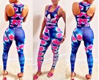 Colorful Empire waist Sexy Women Ladies Bandage Jumpsuits Romper Bodysuit Catsuit Clubwear playsuit
