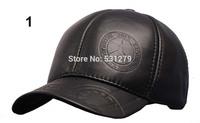 Fashion100%genuine cowhide leather Hat for men windproof super warm high quality adjustable baseball winter men Hats
