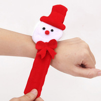 ZHJ0778#6 Snowman Antlers Santa Claus Wrist Pat Circle Rings Wristband Christmas Accessories Supplies Randomly Styles 6pcs/lot