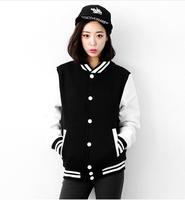 2014 Women Men Unisex Spring Autumn Fashion Patchwork Baseball Jacket Print Hoodies Cardigan Sweatshirts hf138