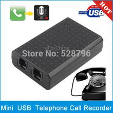 Mini PC USB VoIP Telephone Call Recorder Vonage cabo Digital telefone ativado por voz