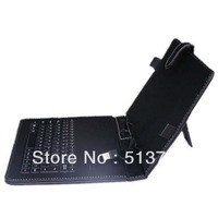7 inch Tablet Mini Micro /USB Keyboard Leather Case English or Russian for Multi- Language Tablet PC free shipping