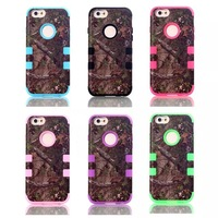 For  iPhone 6  The forest  Silicone +PC 4.7 Inch Case Cover