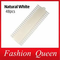 Nail Color Display,2pcs/lot Natural White False Nail Art Board,Gel Polish Practice Nail Chart, Nail Tips Palette Tools Supplies