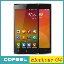 Original Elephone G4 Mobile Phone Android 4.4 MTK6582 Quad Core 5.0 Inch 1280*720 IPS Screen  WCDMA Smartphone 8.0MP Camera