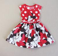 Free shipping 2014 new children's clothing kids princess  TUTU dot dressesAQZ060