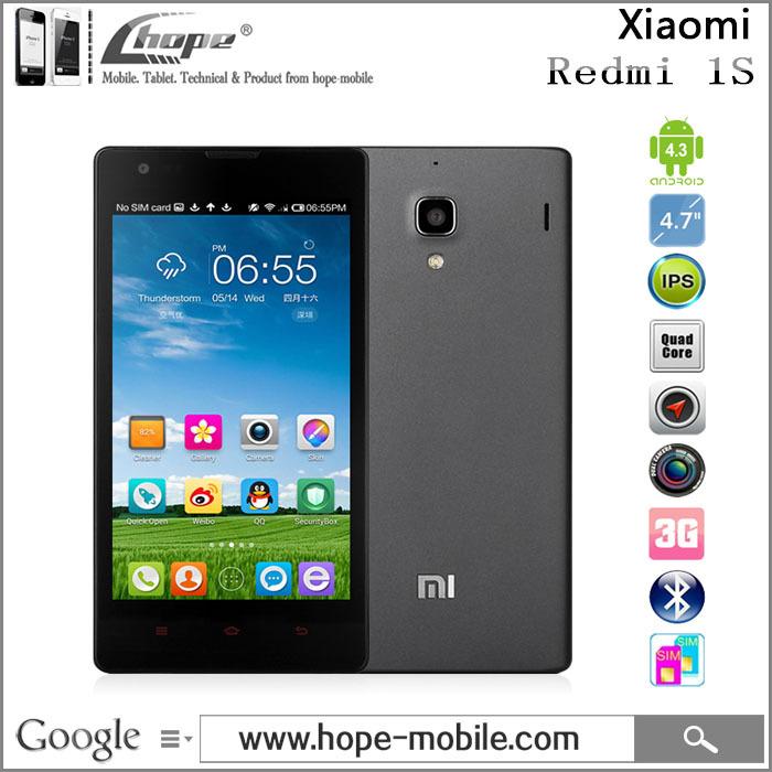 "Original Xiaomi Red Rice 1S WCDMA 4.7"" 1280x720 Hongmi 1S Redmi Quad Core Qualcomm Mobile Phone 8MP Dual SIM Android 4.3 Miui V5(China (Mainland))"
