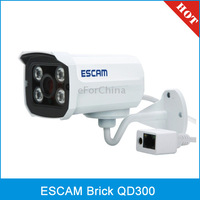ESCAM Brick QD300 H.264 Dual Stream 3.6mm Day / Night Waterproof IP Camera, Support Mobile Detection(White)
