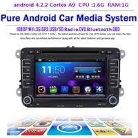 Pure android 4.2.2 Car DVD GPS for VW Golf 6 Polo Passat Jetta Tiguan Touran EOS Sharan with Capacitive screen Radio Recorder