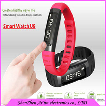 Hot Sales Waterproof Bluetooth Smart Watch U9 Wrist Watch Smartwatch for Phone Samsung for Lenovo huawei smartphone for gifts