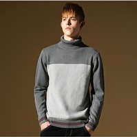 2014 Men's  Pullover Turtle Neck Sweater M-XXL males Woolen cashmere Autumn Winter Wear High Quality Free Shipping SJY326