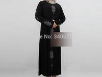 2014 New Rhinestone Design ITY Muslim Clothing For Women,Islamic Abaya In Dubai,Fashion Arabic Jilbab,Free Shipping
