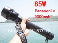 8000 Lumen Zoomable 85W HID Panasonic 9300mah Flashlight Torch Zoom Lamp Light discount high lumen led hid flashlight