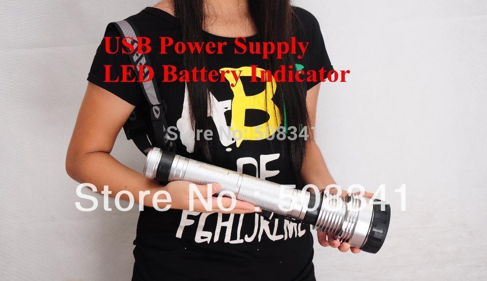 Free Shipping 9300MAH Super HID Flashlight with 85w/65w/45w gear(China (Mainland))
