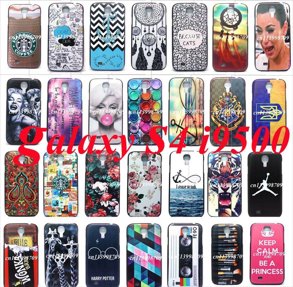 For samsung galaxy case s4 i9500 Retro Vintage Luxury Slim Brand Unique Design Hard Plastic Mobile Phone Protective Skin Cover(China (Mainland))