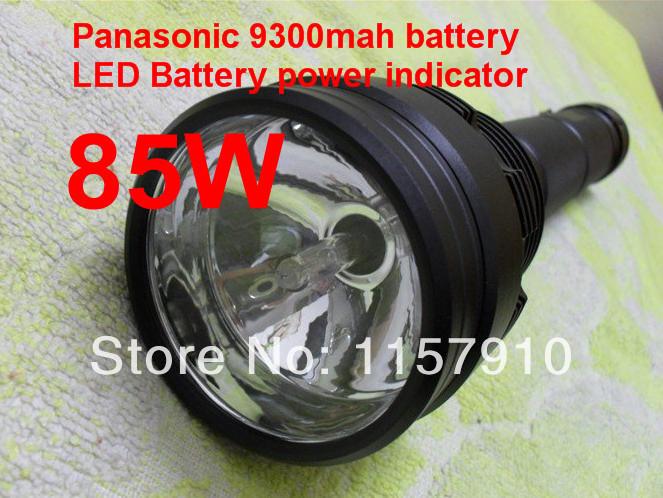 Super Brightness! Flashlight HID Flashlight Xenon Flashlight with Three 85W/65W/45W Switchable(China (Mainland))