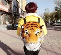 Korean version of tiger head tiger double bag bag bag backpack