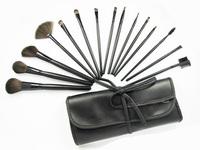 Black 15Pcs Professional Makeup Brushes Set Wood Handle High Qulity Face care tools daily pincel maquillaje trucco maquiagem