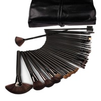 Best Quality 32 pcs Cosmetic Facial Make up Brush Kit Professional Makeup Brushes Tools  Set with Leather Case pincel maquillaje