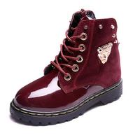 Kids fashion martin boots Children genuine leather snow boots kids cotton boots Boys Girls Autumn Winter non-slip shoes ILTX5004