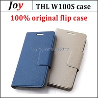 2 pieces per lot Original THL W100S PU Leather Case High Quality Original THL W100S Flip Case Cover Beige Blue Drop Shipping