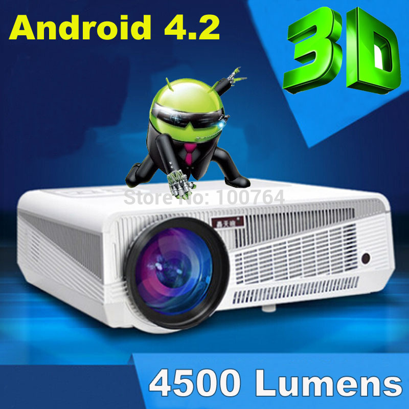 4500 lumens Android 4.2 system built in 3d led projector full hd 1280*800 native resolution home theater projector led(China (Mainland))