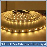 1set 5m 300 LED Flexible Strip Light SMD 5630 DC12V Super Bright Christmas Home Lighting 60led/m Non-waterproof Light
