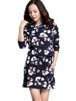 Free Shipping 2014 Women Plus Size Hooded Sweatershirts, Printing Long Design women sweatershirts Dresses  XL XXL XXXL XXXXL