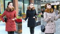 Hot Sale Woman's Outerwear Slim Down Jacket Woman Winter Warm Down Coat Woman Comfortable White Duck Down 90% Large fur collar