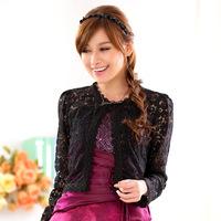 Free Shipping 2015 large size women wedding shawl  Lace cardigan jacket ,elegant lace outwear F XL XXL XXXL
