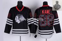 Chicago Blackhawks Jerseys #88 Patrick Kane Jerseys Black Anthentic Ice Hockey Jerseys Cheap Stitched Jerseys Sewing- Free Shipp