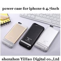 3800mAh External Battery Backup Power case for iphone6 4.7inch  Aluminum alloy phone cases