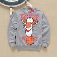 free shipping 2014 autumn 2-6years children fashion tiger sweater boy cartoon jacket kids clothes