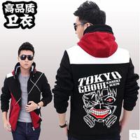 Tokyo Ghoul Kaneki Ken Japanese Cosplay costume jacket coat sweater hoodie Zipper version Winter thicken mask coat