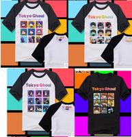 Cos Cosplay Tokyo Ghoul Kaneki Ken Guru Toka Kirishima Touka cosplay tshirt 100% cotton unisex tshirt tee