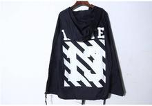 Off White C/O Virgil Abloh featuring oversized fit Windbreaker jacket(China (Mainland))