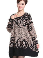 Free Shipping 2015 Middle-aged women Winter loose sweater dress,Brand Plus Size Woman Cashmere Knitted Dresses 2XL3 XL 4XL 5XL