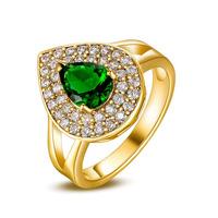 S-0001RG,Jewelry Rings for women Bijoux anel 18k gold plated jewelry with Zircon Nickel free Jewellery
